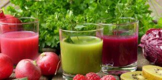 Świeżo wyciskany sok z owoców i warzyw